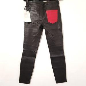 NWT Current/Elliott Stiletto Leather Pants - M09